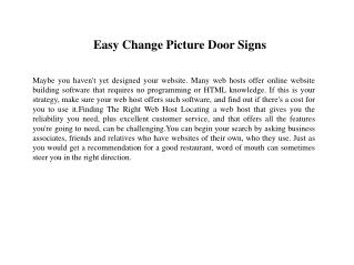 Easy Change Picture Door Signs