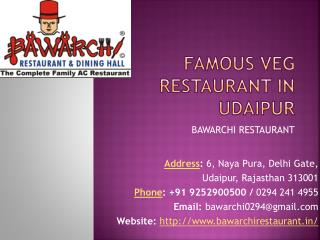 Famous restaurant in udaipur