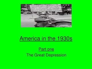 America in the 1930s