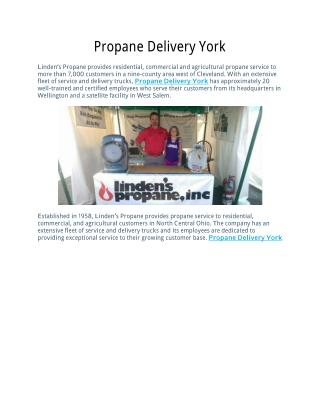 Propane Delivery York