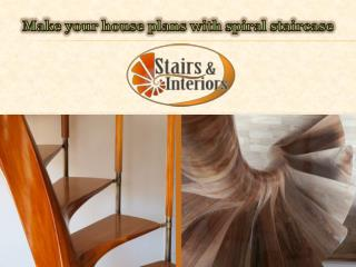 Make your house plans with spiral staircase