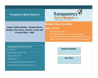 Copper Sulfate Market - Global Industry Analysis & Positive Long-Term Growth Outlook 2024