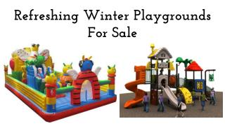 Refreshing Winter Playgrounds For Sale