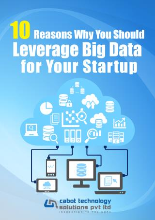10 Reasons Why You Should Leverage Big Data for Your Startup