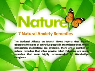 7 Natural Anxiety Remedies