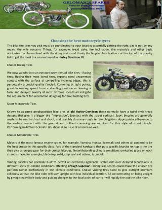 Choosing the best motorcycle tyres