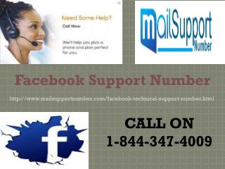 Facebook Support Number 1-844-347-4009 Anytime With You
