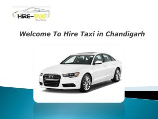 Welcome To Hire Taxi in Chandigarh