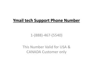 1-888-467-5540 Ymail Tech Support Phone Number