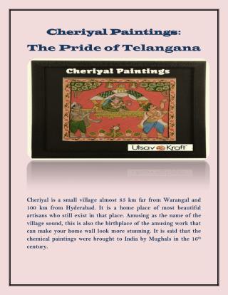 Cheriyal Paintings: The Pride of Telangana