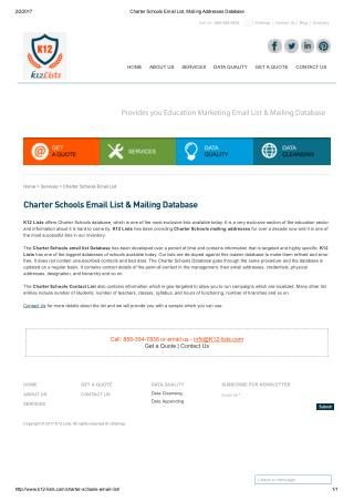Email list of charter schools