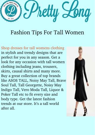 Dresses for tall women