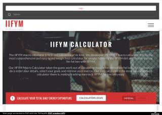 Macros Calculator - IIFYM