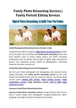 Family Photo Retouching Services | Family Photo Editing Services