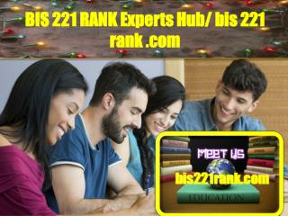 BIS 221 RANK EXPERTS Hub/ bis221rank.com