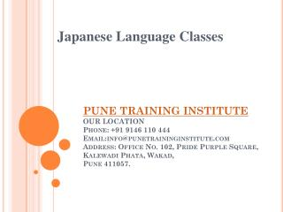 Japanese Language Classes - institutes in Pune  | Pune Training Institute
