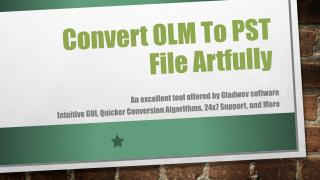Convert Mac OLM to PST File format