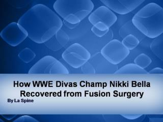 How WWE Divas Champ Nikki Bella Recovered from Fusion Surgery
