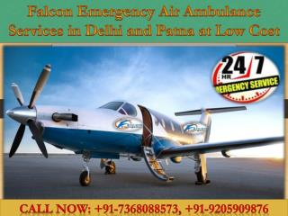 Welcome to Falcon Emergency Air Ambulance Services in Delhi and Patna
