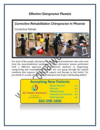 Effective Chiropractor Phoenix