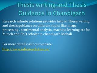 Thesis writing help in Chandigarh || Thesis Guide || Thesis Guidance