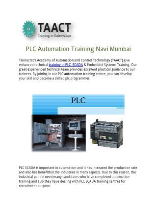 PLC Automation Training Navi Mumbai