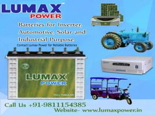 Contact Lumax Power for Reliable Batteries- 9811154385