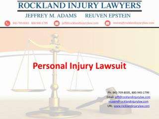 Personal Injury, Lawsuit