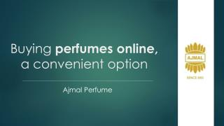 Buying perfumes online, a convenient option