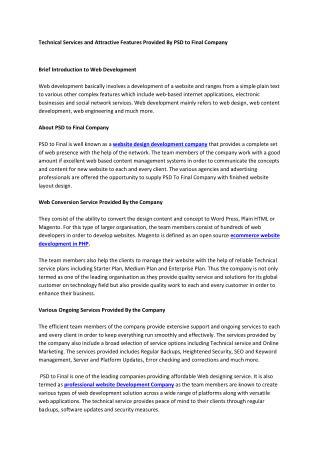 Professional Web Design & Development Services