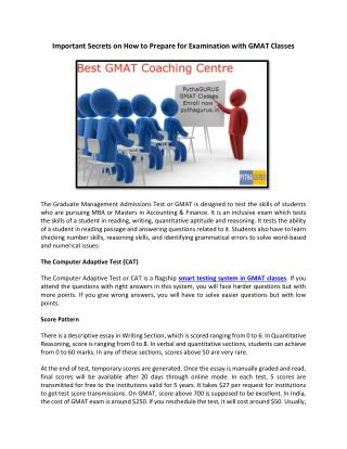 Important Secrets on How to Prepare for Examination with GMAT Classes