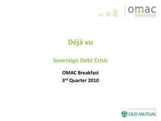D j  vu  Sovereign Debt Crisis