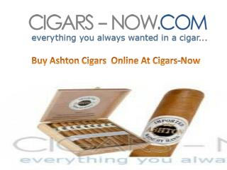 Buy Ashton Cigars Online