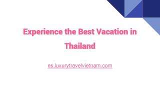 Experience the Best Vacation in Thailand