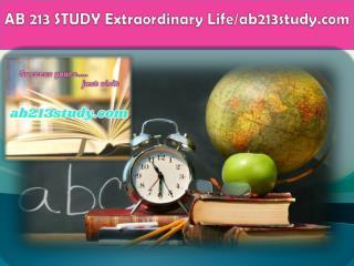 AB 213 STUDY Extraordinary Life/ab213study.com