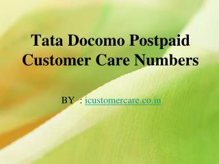Check Tata DOCOMO customer care toll free no