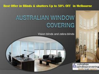 vision blinds And zebra blinds