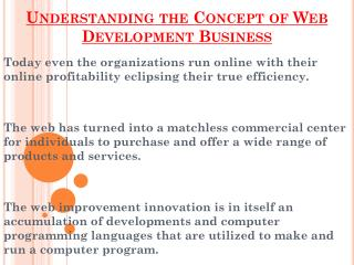 Concept of Web Development Business