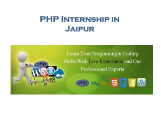 PHP Internship in Jaipur