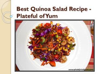 Best Quinoa Salad Recipe - Plateful of Yum