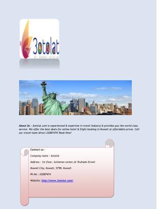 Find Best Deals for Online Hotel & Flight Booking in Kuwait