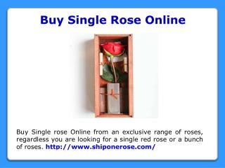 Send Single Rose Online