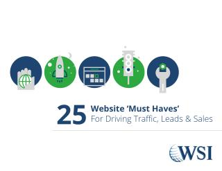 25 Website 'Must Haves' For Driving Traffic, Leads & Sales