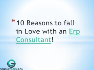 10 reasons to fall in love with ERP consultant
