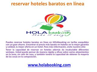 reservar hoteles baratosen línea