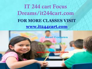 IT 244 cart Focus Dreams/it244cart.com