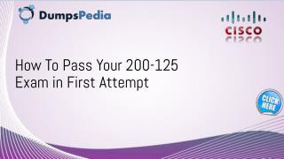 200-125 Dumps Questions