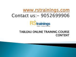 tableau online training course content
