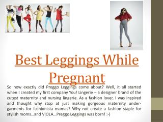Best Maternity Leggings Not See Through