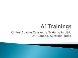 Online Apache Cassandra Training in USA, UK, Canada, Australia, India